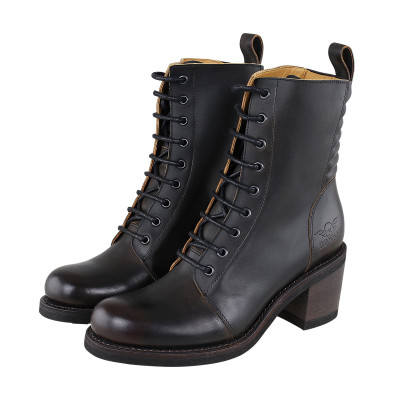 Rokker Womens Speedway Boots Antique Black