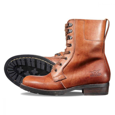 Rokker Womens Urban Racer Boots Brown