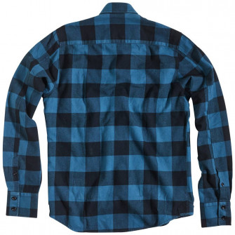 Rokker Denver Check Shirt Blue