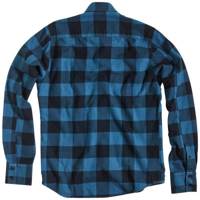 Rokker Denver Check Shirt Blue