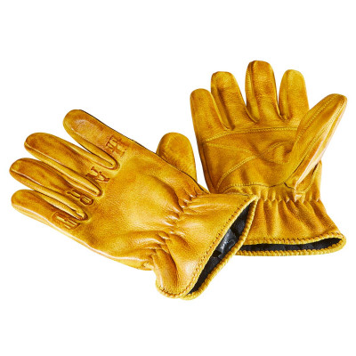 Rokker Ride Hard Gloves Natural Yellow