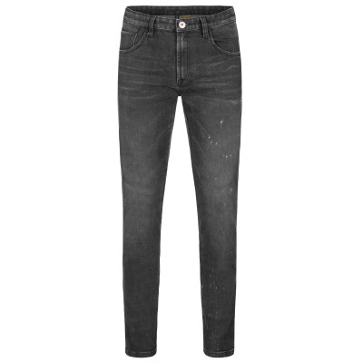 Rokker Rokkertech Tapered Slim Jeans Black